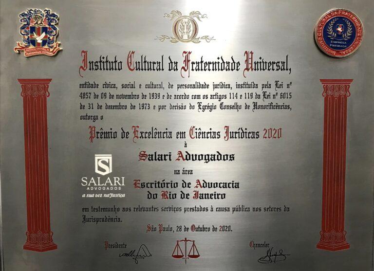 Prêmio de Excelência em Ciências Jurídicas 2020